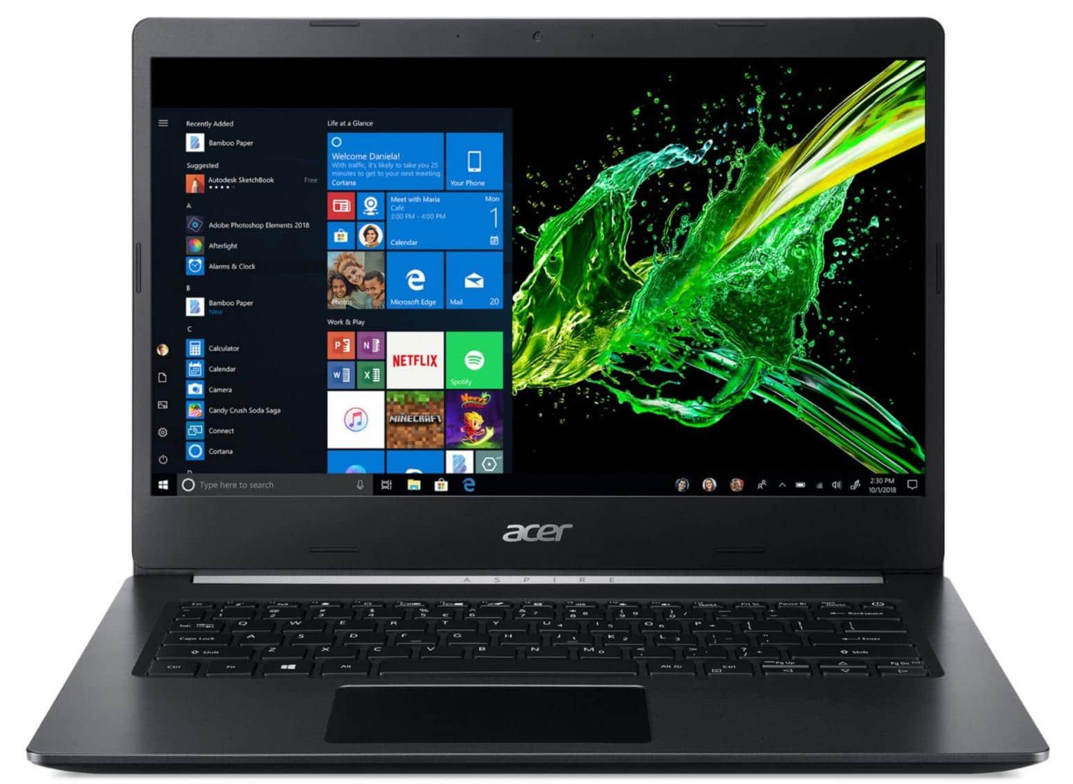 Acer Aspire A514-52K-35J2, ultrabook 14 pouces IPS (432€)