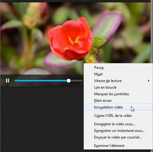 Firefox Picture-in-Picture incrustation video