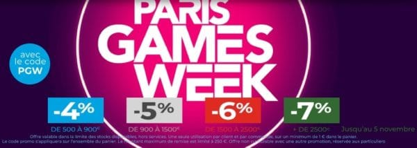 GrosBill Réductions Paris Games Week 5nov19