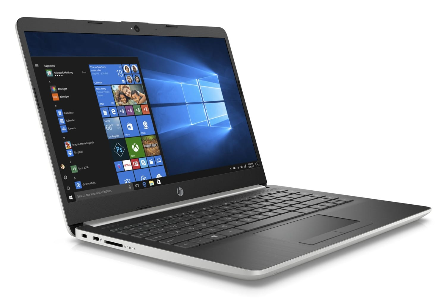 "HP 14-dk0052nf, PC 14"" Full HD argent léger gros stockage (379€)"
