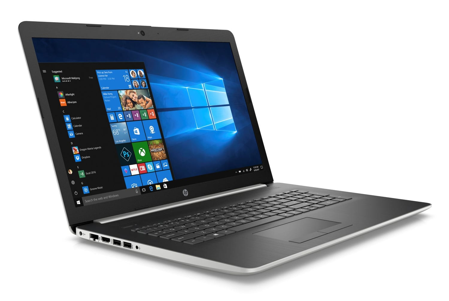 """HP 17-by0018nf, PC portable 17"""" argent DVD gros stockage (467€)"""