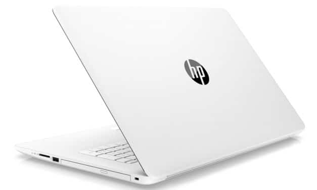 "HP 17-by0071nf, PC portable 17"" blanc gros stockage rapide DVD (499€)"