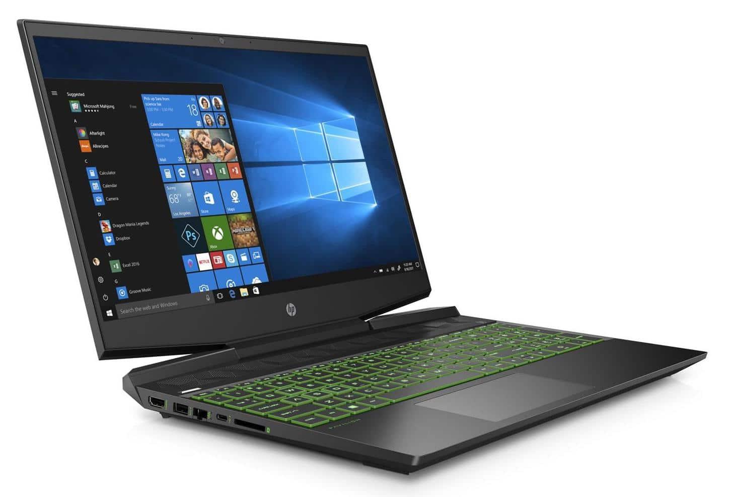 "HP Pavilion Gaming 15-dk0034nf, PC 15"" gamer vert GTX (899€)"