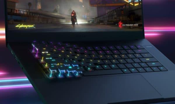 Razer Blade 15 clavier touches optiques