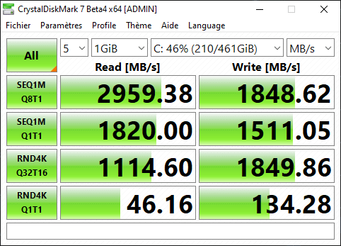 Test Razer Blade 15 Performances SSD