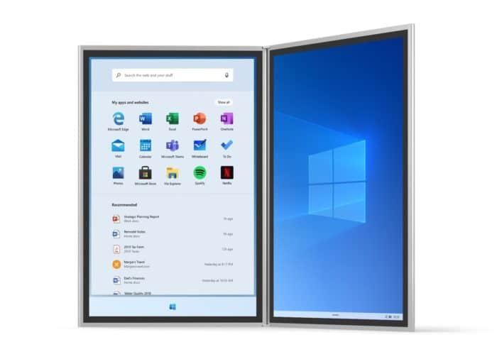 """<span class=""""tagtitre"""">Windows 10X - </span>émulateur pour le système dédié aux double écrans, Wonder Bar et mises à jour rapides"""