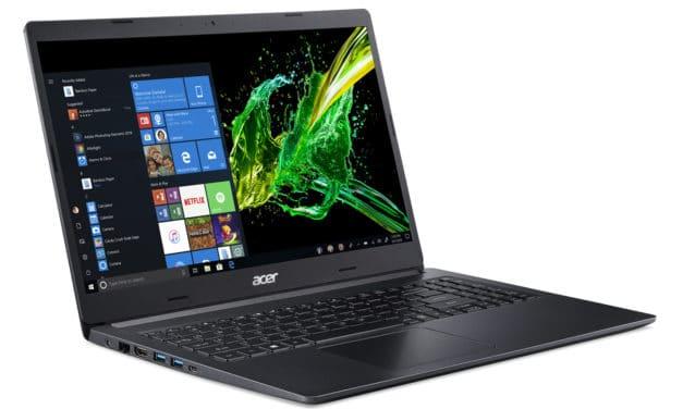 """Acer Aspire A515-54-552P, Ultrabook 15"""" noir léger et rapide 7h30 (579€)"""