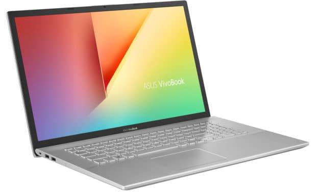"""<span class=""""nouveau"""">Nouveau 699€</span> Asus VivoBook S17 M712DA-BX054T, PC portable 17"""" argent polyvalent SSD 512 Go"""