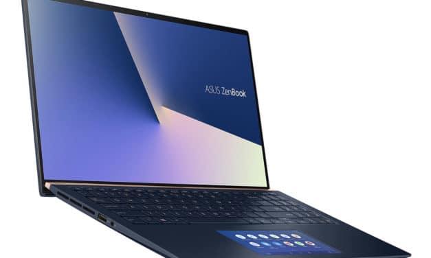 Asus Zenbook UX534FA-A8093T, ultrabook bleu 15 pouces avec 2 écrans, léger (999€)