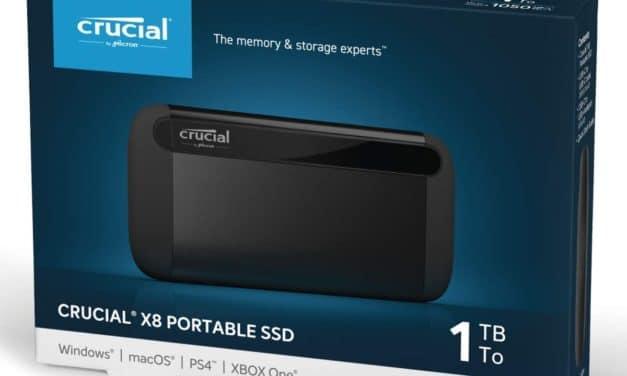 Crucial X8, stockage SSD externe noir USB de 500 Go ou 1 To
