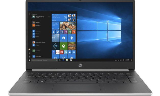 """<span class=""""soldes"""">Soldes 404€</span> HP 14s-dq0007nf, ultrabook 14 pouces pas cher avec souris, sacoche et Office365"""