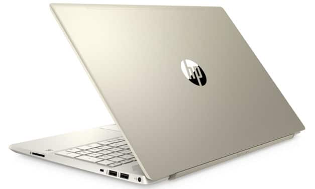 "HP Pavilion 15-cs3014nf, Ultrabook 15"" Or gros stockage rapide (697€)"