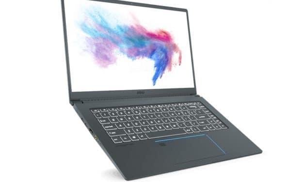 "MSI Prestige 15 A10SC, Ultrabook 15"" 4K gamer Turing et Comet Lake Hexa Core"