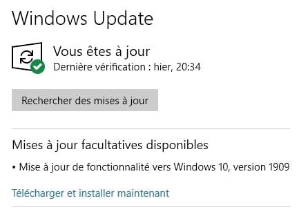 Windows 10 November 2019 Update disponible