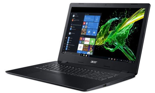 Acer Aspire A317-51G-539H, 17 pouces multimédia avec SSD 1 To et MX250 (899€)