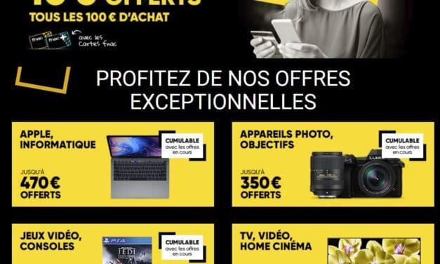 """<span class=""""tagtitre"""">Bon plan Jours adhérents FNAC - </span>10€ tous les 100€"""