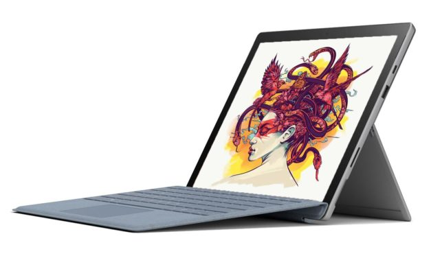 """<span class=""""promo-best"""">Promo 999€</span> Microsoft Surface Pro 7 - Tablette 12"""" tactile silencieuse UHD + clavier"""