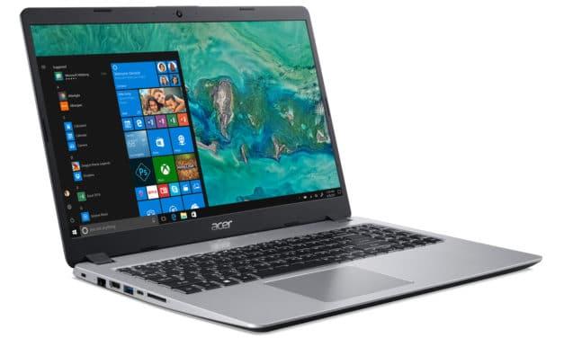 """Acer Aspire 5 A515-52G-52M2, Ultrabook 15"""" argent polyvalent rapide, léger nomade 7h (599€)"""