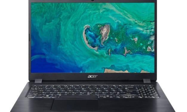 Acer Aspire A515-52G-54F5, 15 pouces léger multimédia (599€)