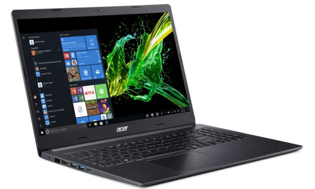 "Acer Aspire A515-54-56S9, Ultrabook 15"" noir léger rapide SSD 512 Go 7h (668€)"
