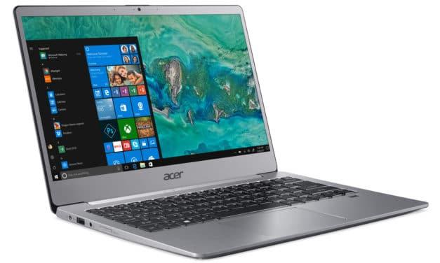 "Acer Swift 3 Pro SF313-51-50N3, Ultrabook 13"" argent rapide léger 9h (579€)"