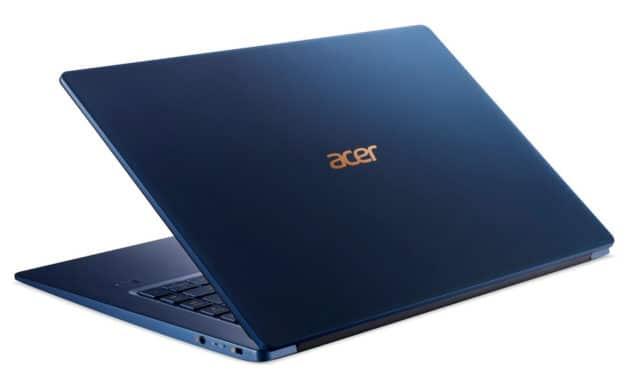 """Acer Swift 5 SF515-51T-52V8, Ultrabook 15"""" tactile Pro bleu très léger 999gr rapide SSD 8h (999€)"""