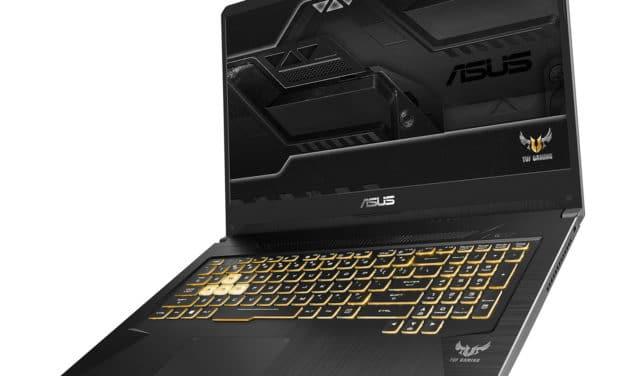 """Asus TUF765DT-H7171T, 17"""" borderless gamer GTX 1650 (1109€)"""