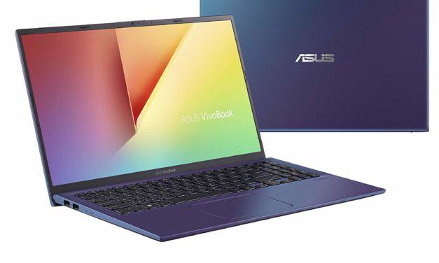 "Asus VivoBook 15 S512UA-EJ641T, Ultrabook 15"" bleu gros stockage rapide (579€)"