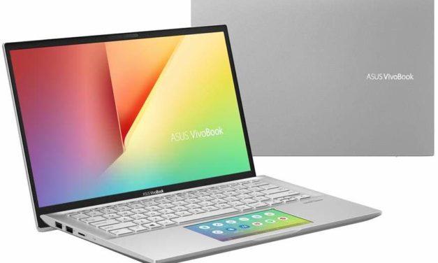 Asus Vivobook S432FA-EB052T, ultrabook 14 pouces réactif ScreenPad (969€)