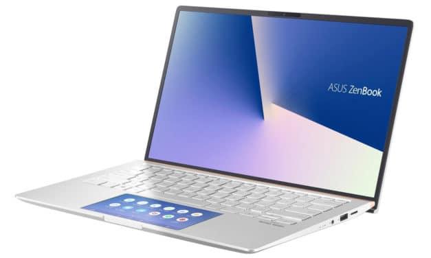 "Asus ZenBook UX434FL-A5293T, Ultrabook 14"" polyvalent nomade argent rapide léger ScreenPad 10h (1039€)"
