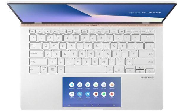 Asus Zenbook UX434FL-A5299T, 14 pouces léger et design avec MX250 et 2 écrans (1199€)