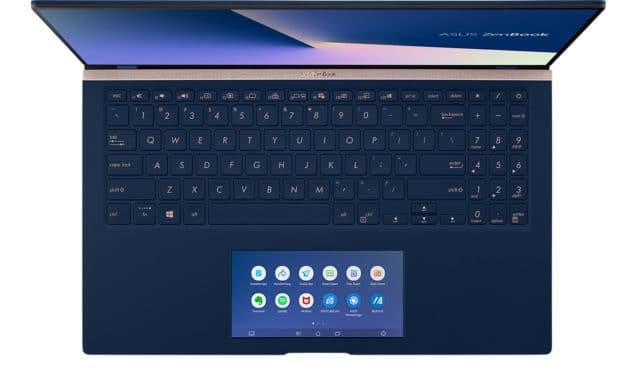 """Asus Zenbook UX534FT-A9142T, ultrabook polyvalent 15"""" ScreenPad (1580€)"""