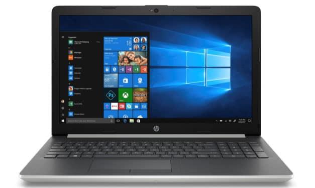 """HP 15-db1002nf, PC portable 15"""" argent noir rapide pas cher léger CD/DVD (349€)"""