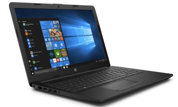 "<span class=""promo"">Promo 509€</span> HP 15-db1035nf, PC portable 15"" noir polyvalent léger rapide gros stockage"