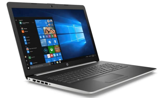 """HP 17-ca1000nf, PC portable 17"""" argent/noir pas cher léger gros stockage et CD/DVD (449€)"""