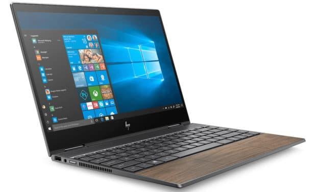 "HP Envy x360 13-ar0014nf, Ultra 13"" tactile Tablette polyvalent léger en bois 7h (799€)"