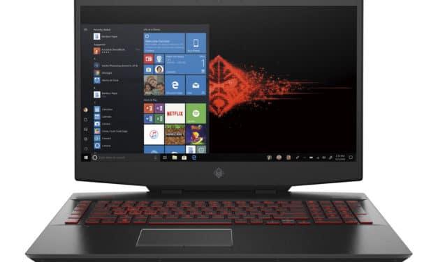 HP Omen 17-cb0030nf, PC gamer 17 pouces puissant avec RTX 2080 et Octo i9 (2624€)