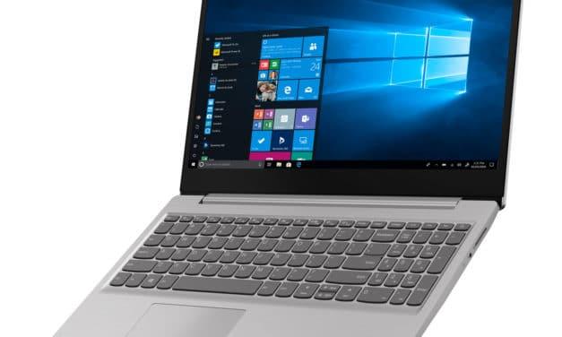 "Lenovo IdeaPad S145-15API (81UT008AFR), PC portable 15"" polyvalent léger argent rapide gros stockage (484€)"