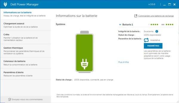 Test Dell XPS 13 7390 - Batterie