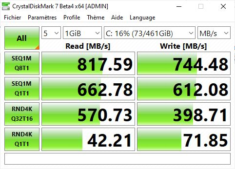 Test Dell XPS 13 7390 - SSD