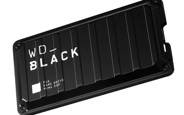 Western Digital Black P50 Game, SSD externe très rapide, USB 2.5 Go/s