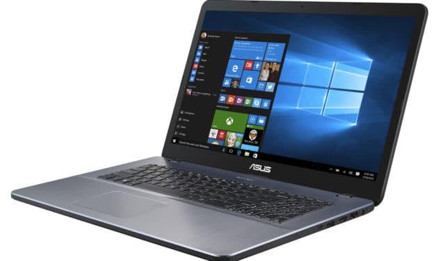 Asus R702UA-BX1006T, PC portable 17 pouces léger avec SSD 512 Go (549€)