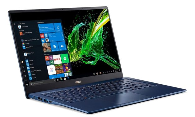 Acer Swift 5 SF514-54GT-796E, ultrabook bleu tactile multimédia moins de 1kg (1199€)