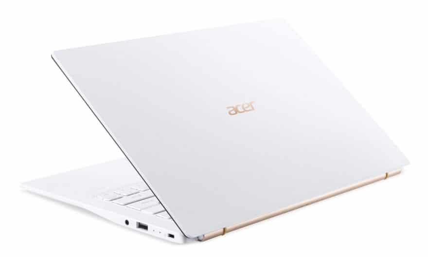 """<span class=""""nouveau"""">Nouveau 999€</span> Acer Swift 5 SF514-54T-53DT, Ultrabook 14"""" tactile blanc très léger et rapide 1 Kg"""