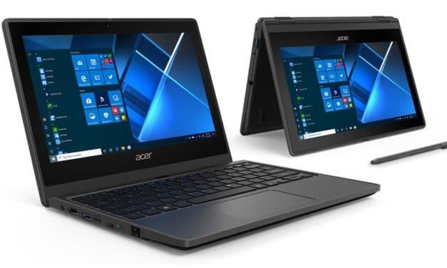 Acer TravelMate B3 et Spin B3, nouveaux ultraportables (Tablette) Gemini Lake Refresh d'entrée de gamme