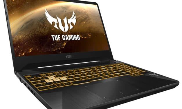 Asus TUF505DD-BQ050T, 15 pouces gamer polyvalent pas cher (532€)