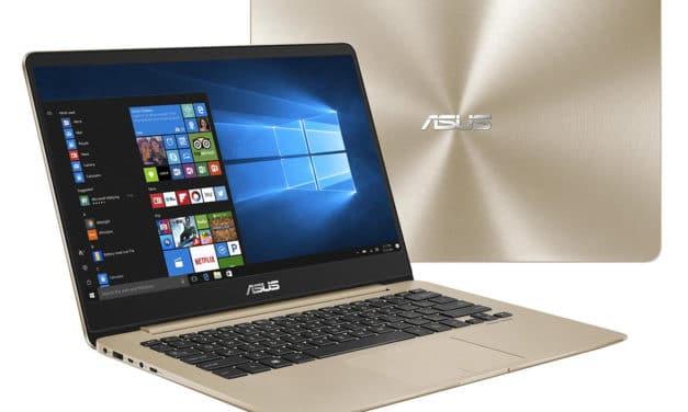"""Asus ZenBook UX430UA-GV371T, Ultrabook 14"""" Or rapide et léger nomade 9h (699€)"""