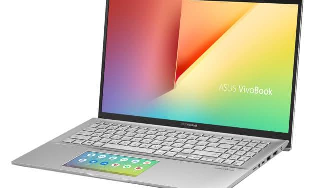 """Asus VivoBook S532FA-BQ141T, Ultrabook 15"""" argent léger performant ScreenPad (879€)"""