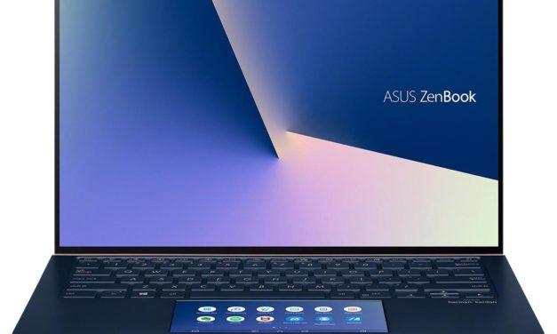 Asus ZenBook UX434FLC-A6422T, 14 pouces léger et design bleu avec MX250 et 2 écrans (1139€)