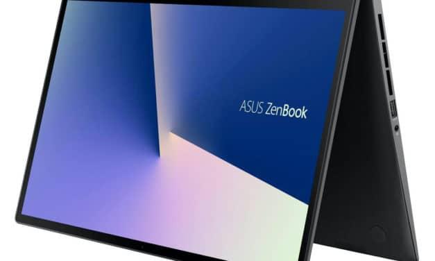 Asus Zenbook Flip UX563FD-A1053R, 15 pouces tactile 4K polyvalent (1799€)